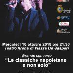 Grande concerto gratuito mercoledì 10 ottobre 2018 alle ore 21,30